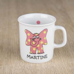 Kopp med rosa elefant